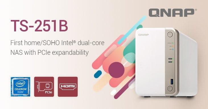 QNAP TS-251B เป็น NAS ตระกูลสำหรับ Home/SOHO ที่รองรับ PCIe เป็นรุ่นแรกของ QNAP เลย