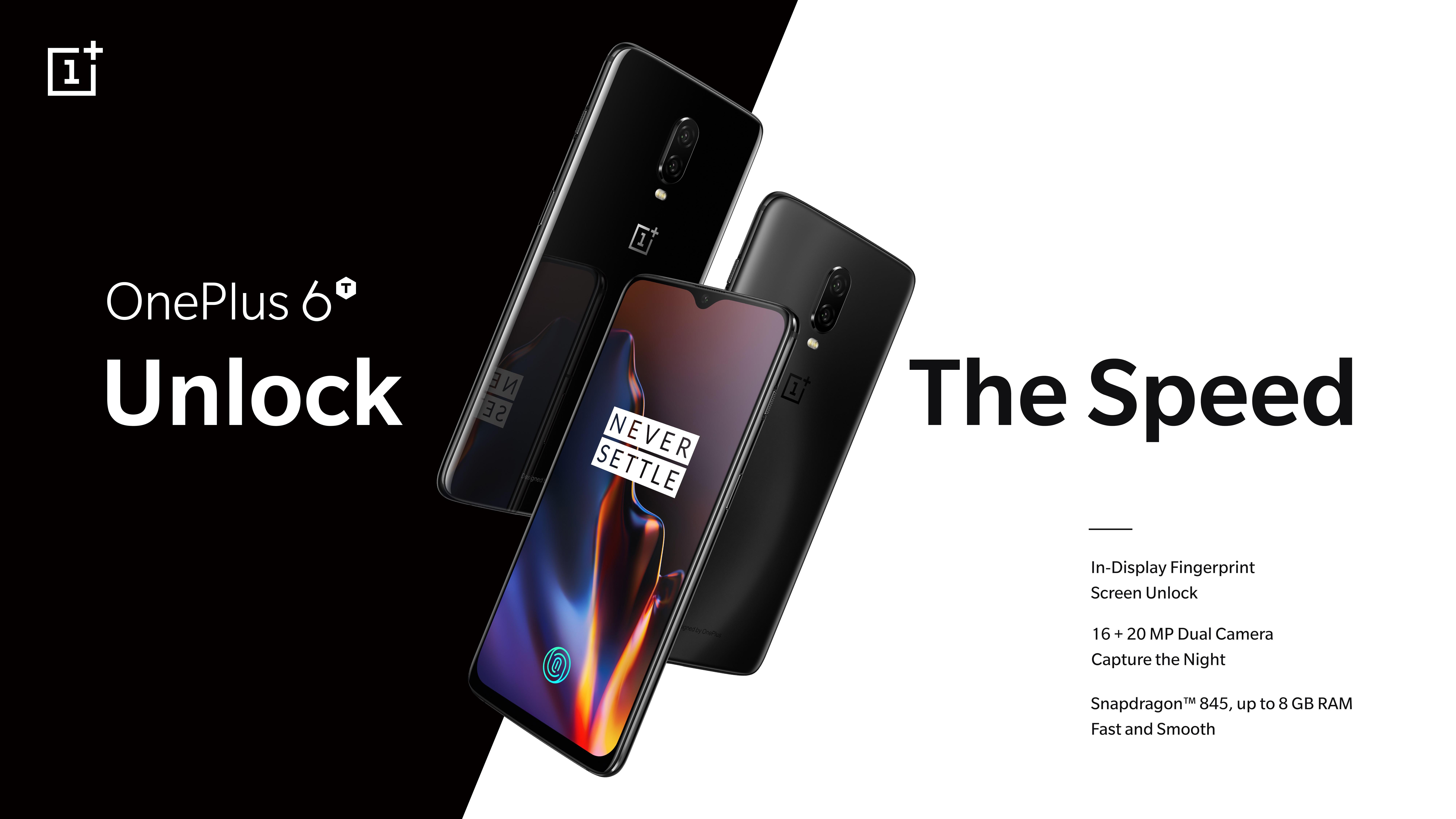 พบกับประสบการณ์ความเร็วขั้นกว่ากับ OnePlus 6T เตรียมวางจำหน่ายอย่างเป็นทางการในประเทศไทยที่ AIS, JD Central และ Power Buy 1