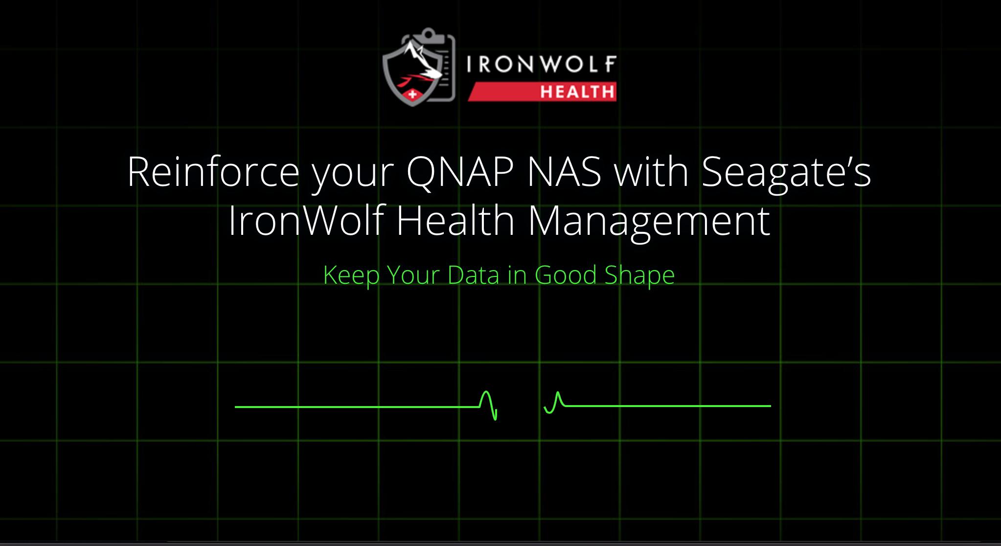 รักษาข้อมูลของคุณให้ดีเสมอด้วยฟีเจอร์ IronWolf Health Management บน QNAP NAS กับฮาร์ดดิสก์ Seagate 1