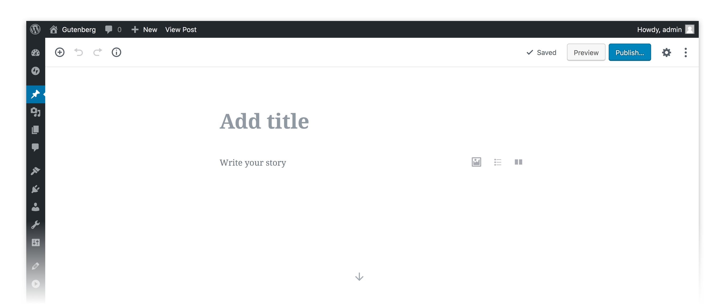 เมื่อ Wordpress หันมาใช้ Gutenberg 1