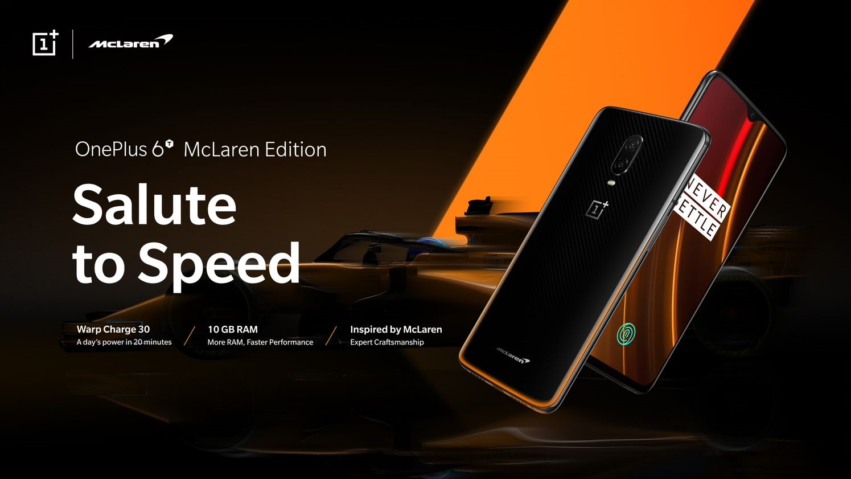 เตรียมพบกับนิยามใหม่แห่งความเร็วแรงขั้นสุดกับการร่วมมือกันระหว่าง OnePlus และ McLaren ในสมาร์ทโฟนรุ่นใหม่ OnePlus 6T McLaren Edition ที่ AIS, JD Central และ Power Buy 1