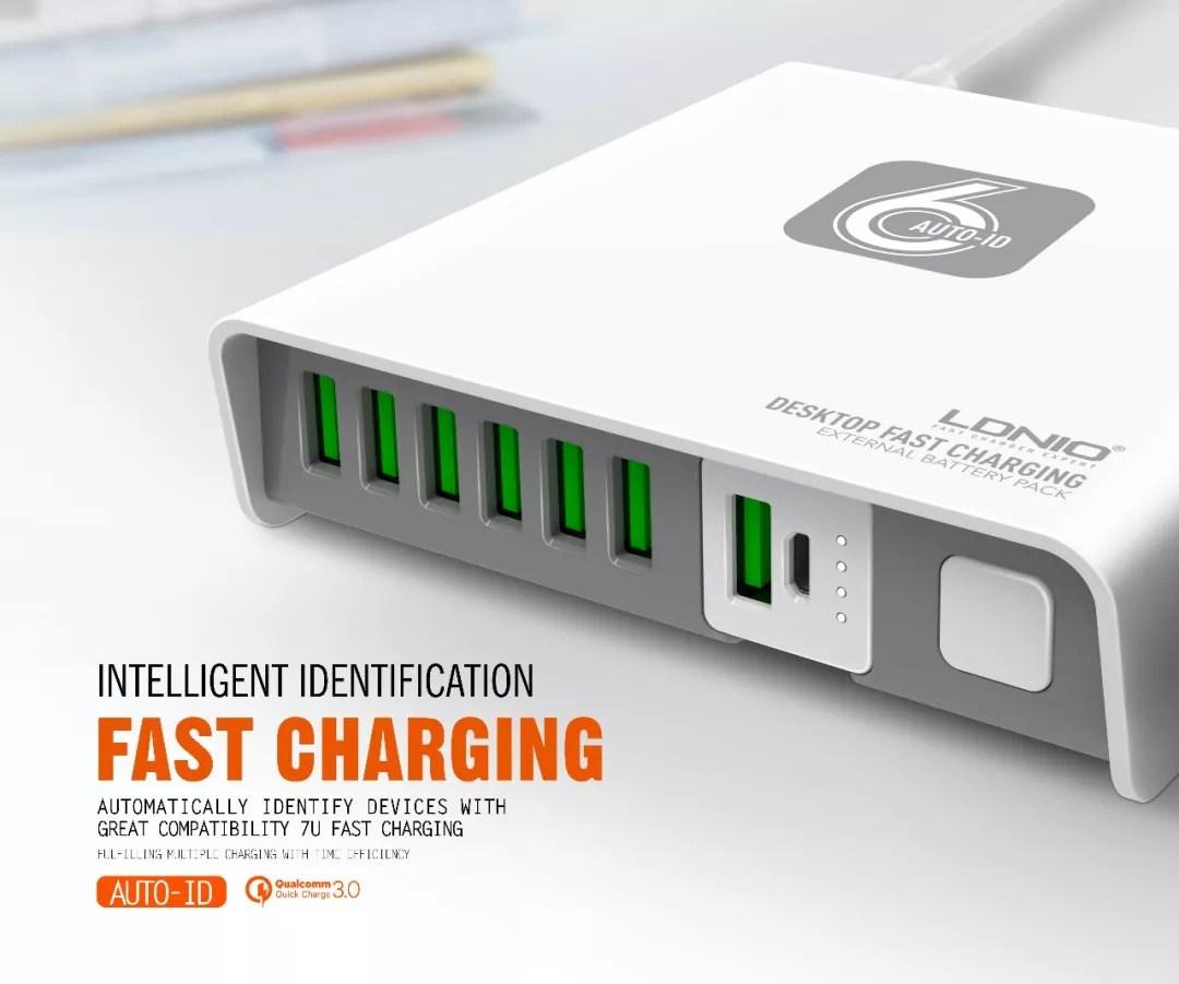 รีวิว LDNIO Desktop Fast Charging รุ่น A6802 6 พอร์ต 40 วัตต์ 1