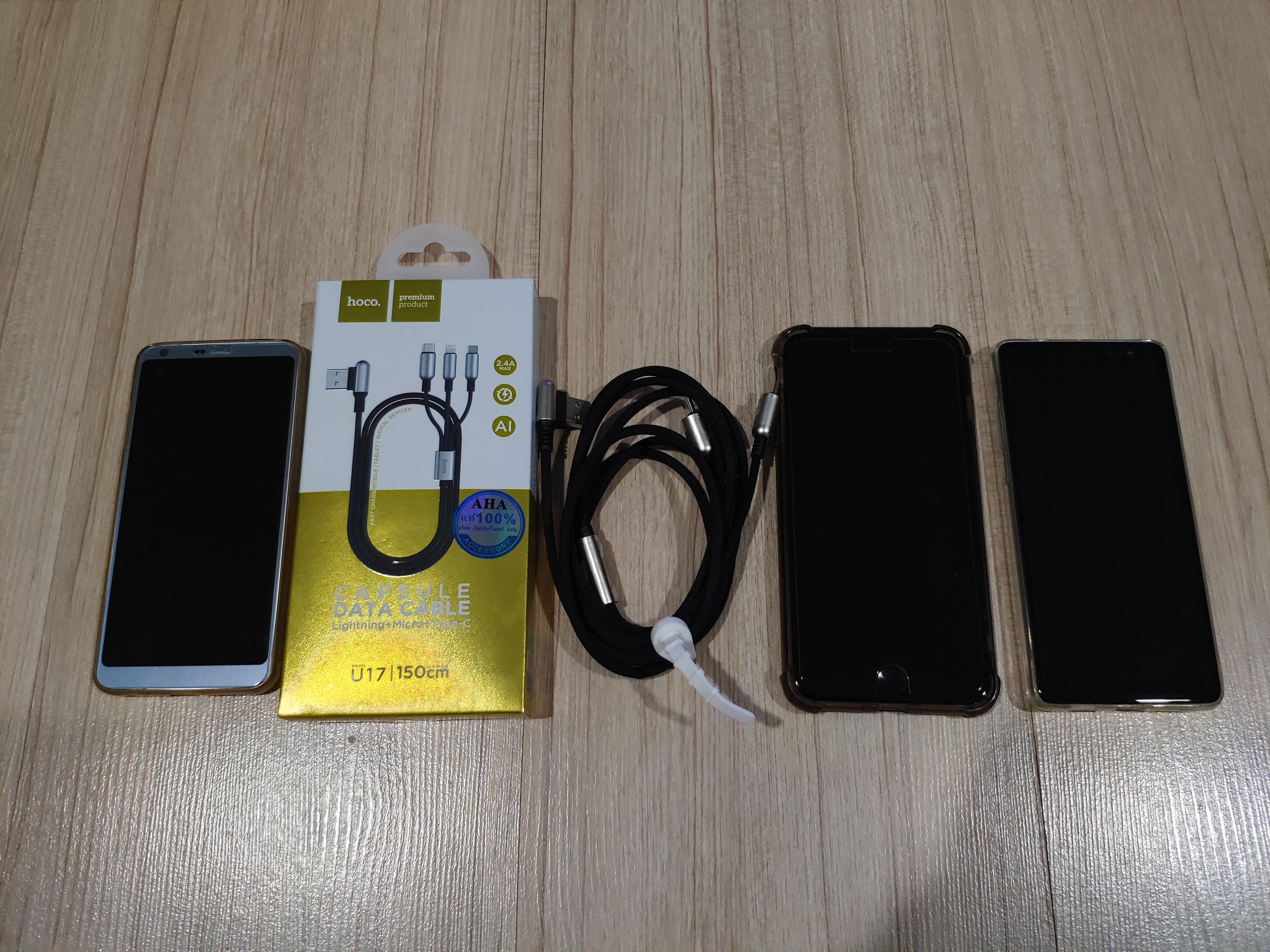 รีวิวสายชาร์จแบบ 3 in 1 ของ hoco รุ่น U17 Micro USB, Lightning หรือ USB-C เส้นเดียวเอาอยู่หมด 1