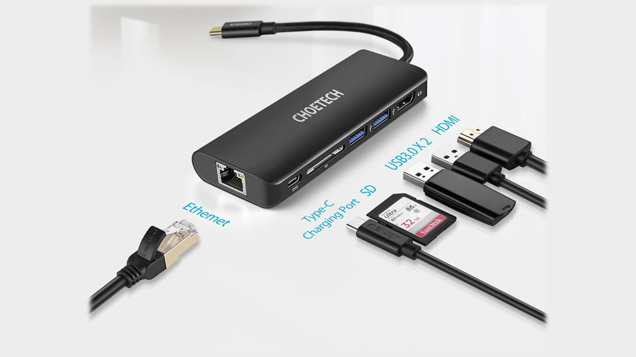 รีวิว Choetech HUB-M05 6 in 1 Multiport USB-C Adapter คู่ใจโน้ตบุ๊กยุคใหม่ 1