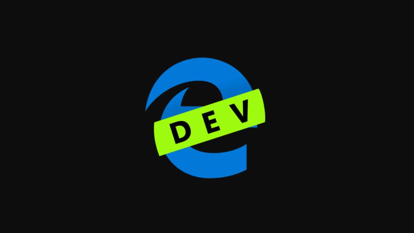 โลโก้ Microsoft Edge เวอร์ชันที่ใช้โค้ดจาก Chromium สำหรับ Developer